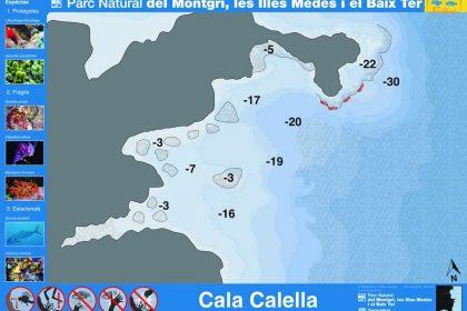 Punto de buceo Cala Calella en la Costa del Montgrí