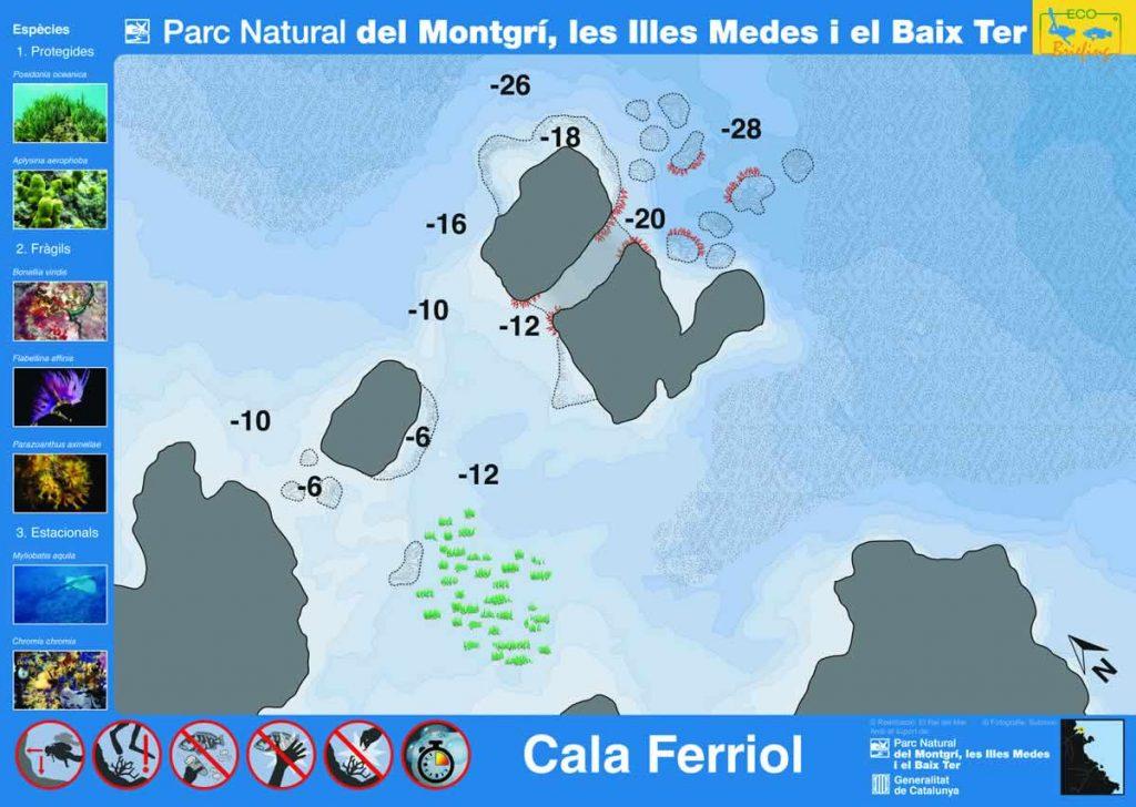 Punto de buceo Ferriol en la Costa del Montgrí