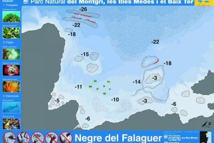 Punto de buceo Negre del Falaguer en la Costa del Montgrí